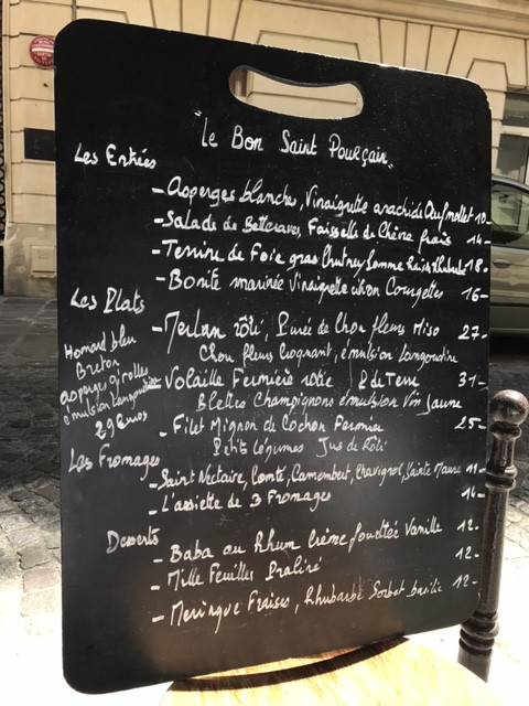 Love the French menu boards!