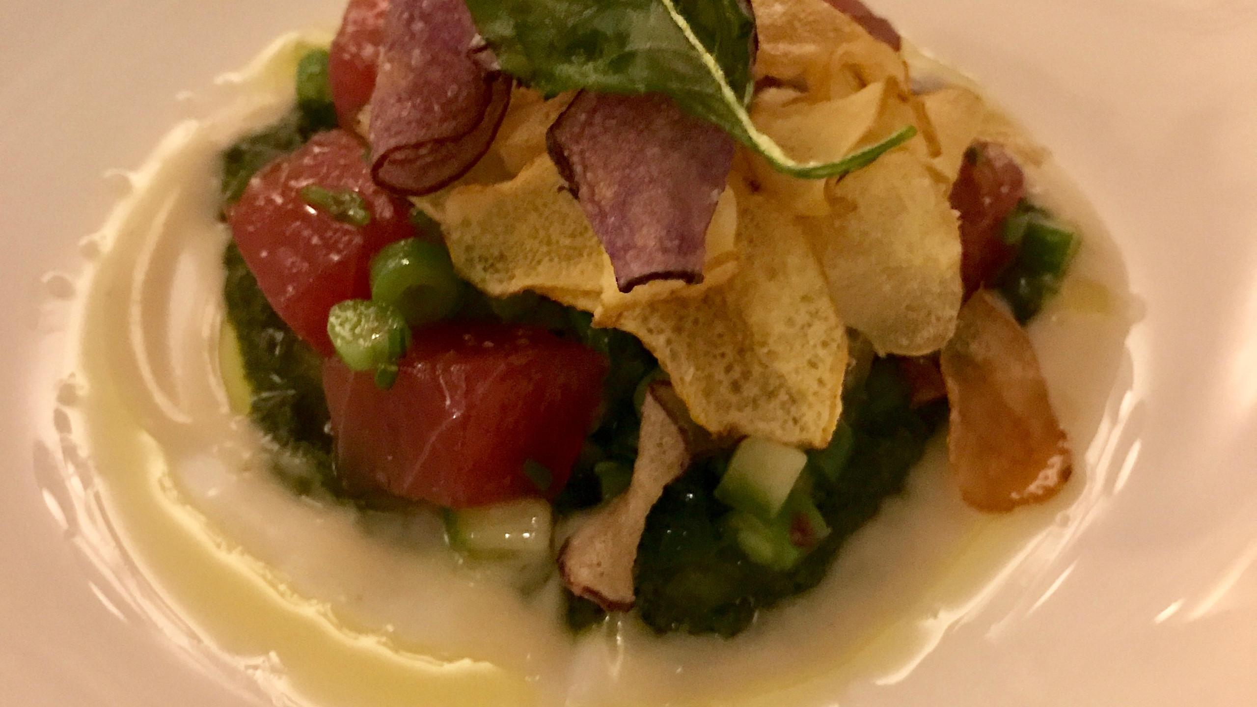 Crispy tuna tartare
