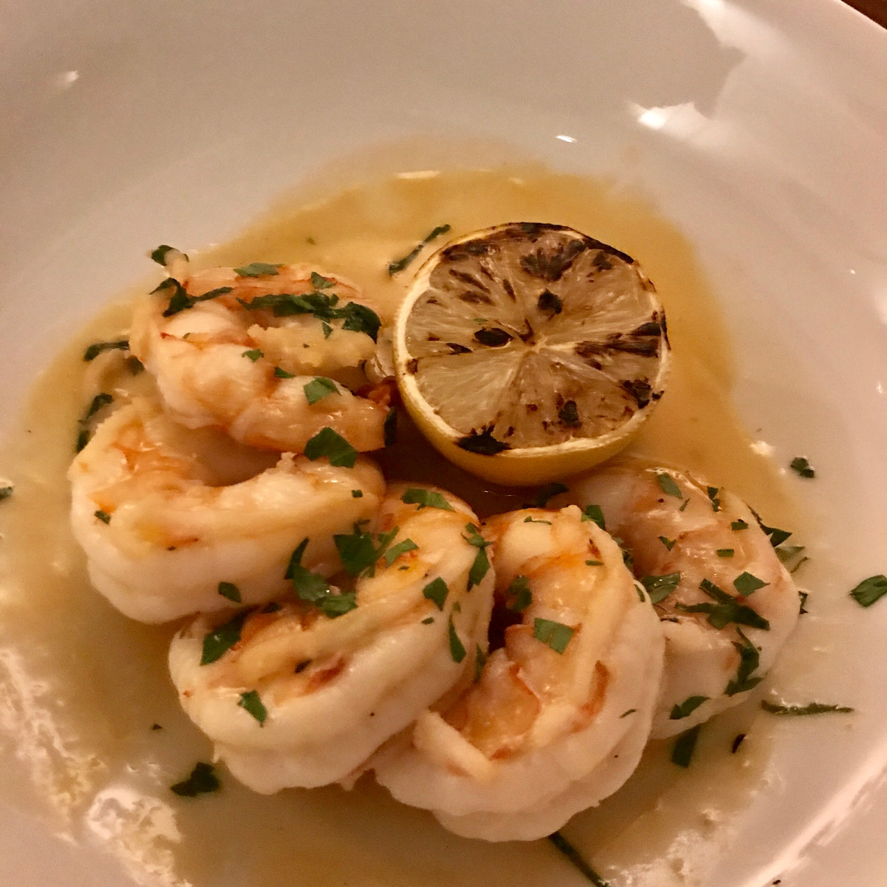 Succulent lemon shrimp
