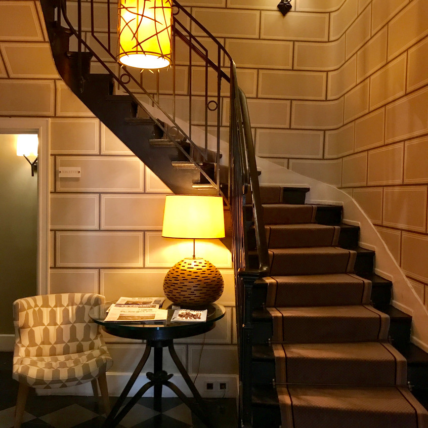 Marvelous staircase up to the room