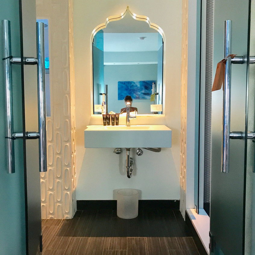 Gorgeous entrance to bathroom