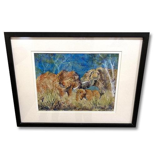 Masai Elephants -Original Watercolor