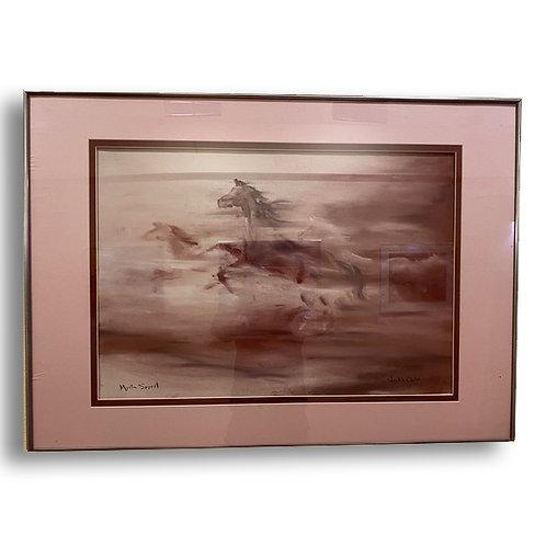 Four Horses - Original Watercolor