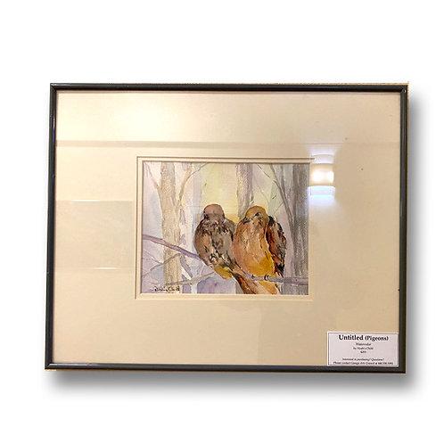 Untitled (Pidgeons) - Original Watercolor