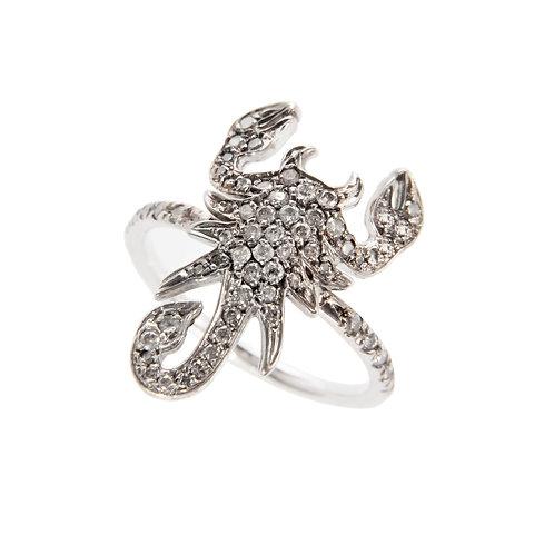 Iced diamonds Scorpion Ring