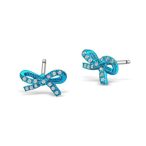 Mini Turquoise Ribbons ear studs