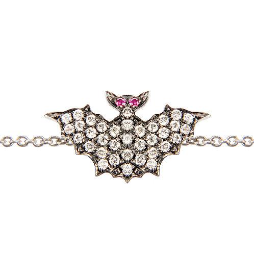 White Diamonds Bats Bracelet