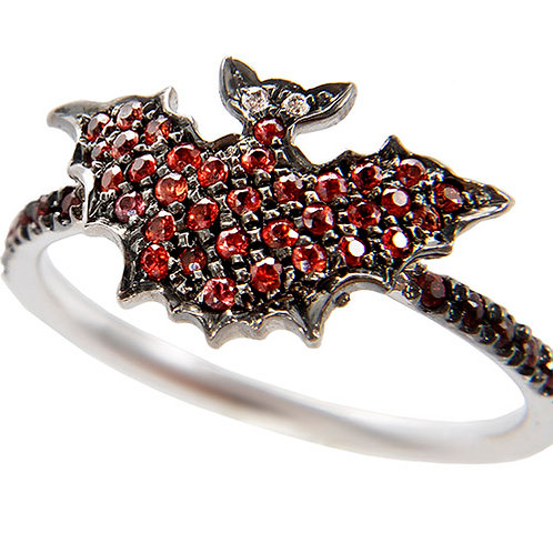 Rubies and Gold Bat Ring