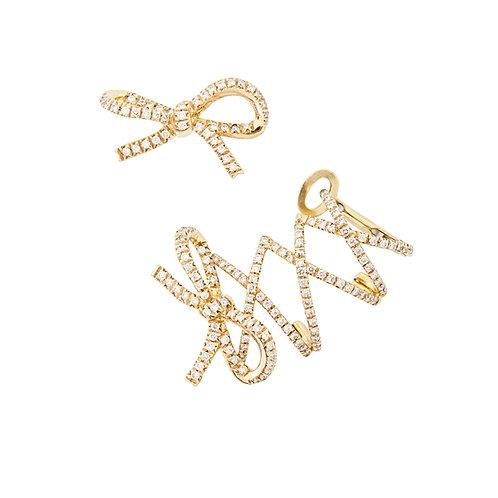 Yellow Gold Corset Ear Cuff