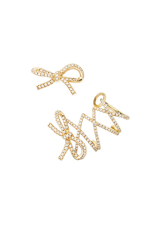 Yellow Gold Corset Ear Cuff