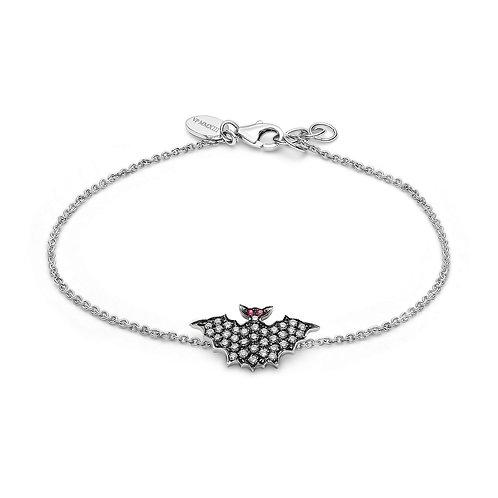 Blackened Gold andWhite Diamonds Bat Bracelets