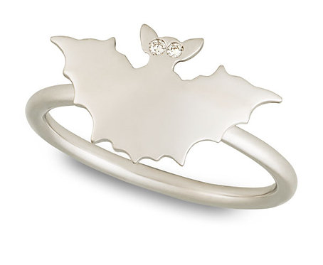 White Gold Bat ring