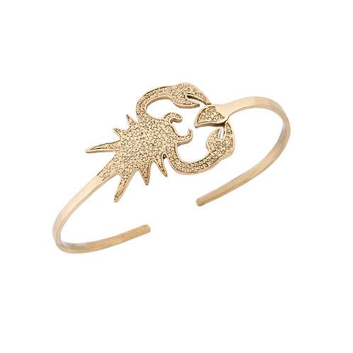 Brass Scorpion Bangle