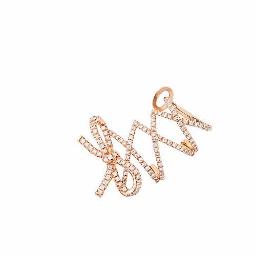 Single Rose Gold Corset Ear Cuff