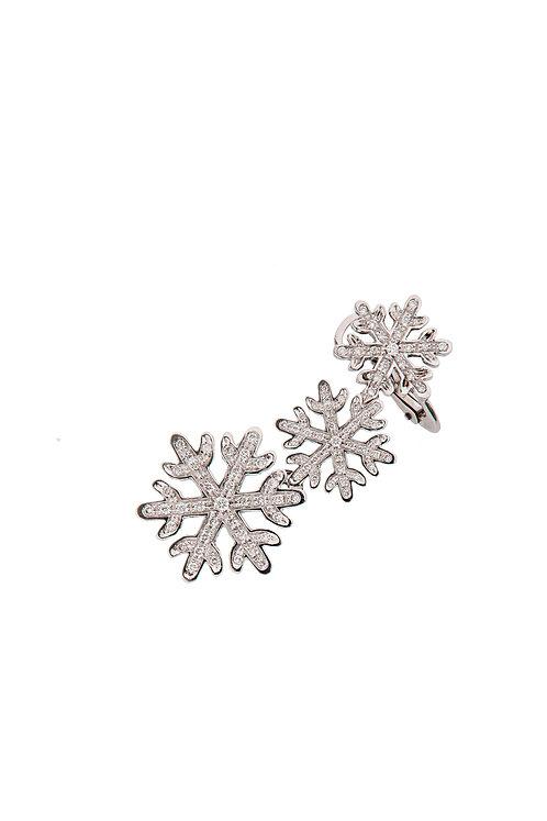 Single Snowflakes Ear Cuff