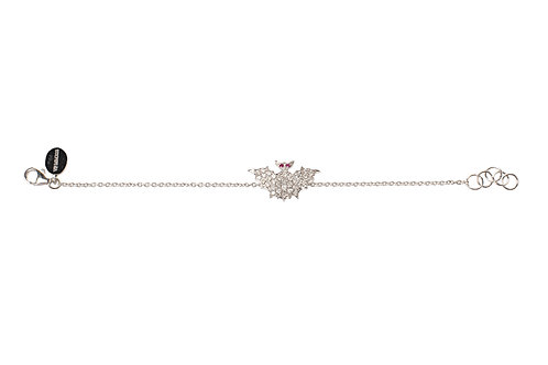 White Diamonds Bats Bracelet