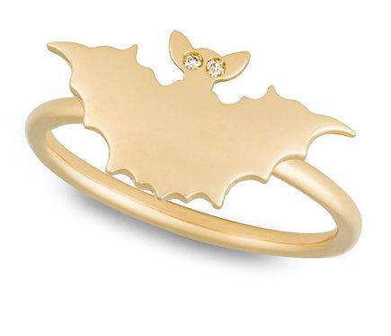 Yellow Gold Bat Ring