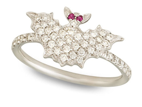 White Diamonds Bat Ring