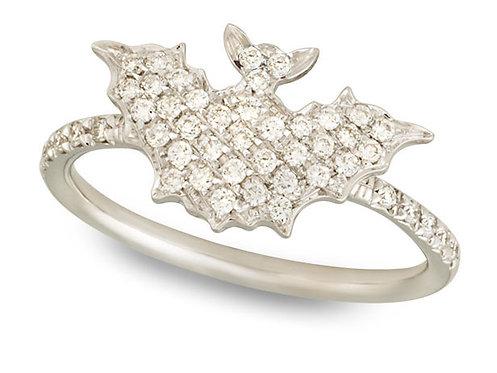 Rose Gold and White Diamonds Bat ring