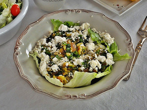 Eggplant Salad with White Cheese