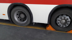 Nord Lock wheel Nut on public  Bus