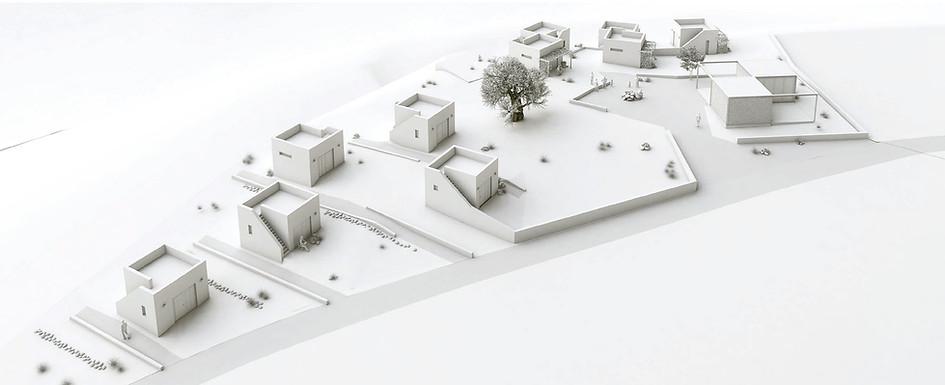 Abstrakte 3D Visualisierung eines Besucherzentrum