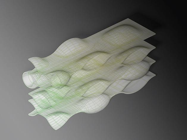 3D Visualisierung einer digitalen Skulptur