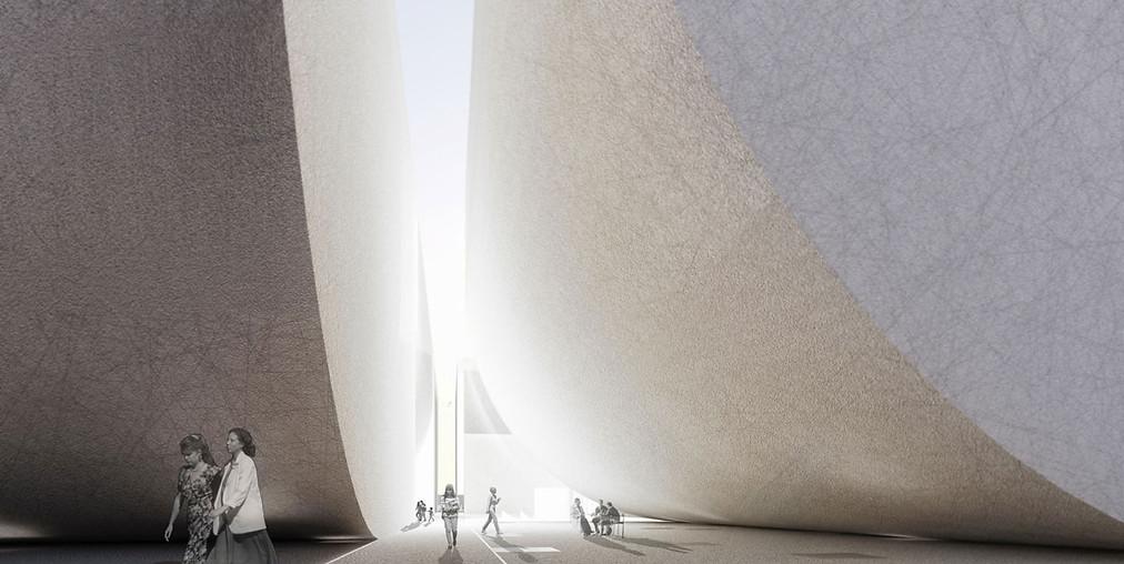 3D Innenraum Visualisierung eines Museums