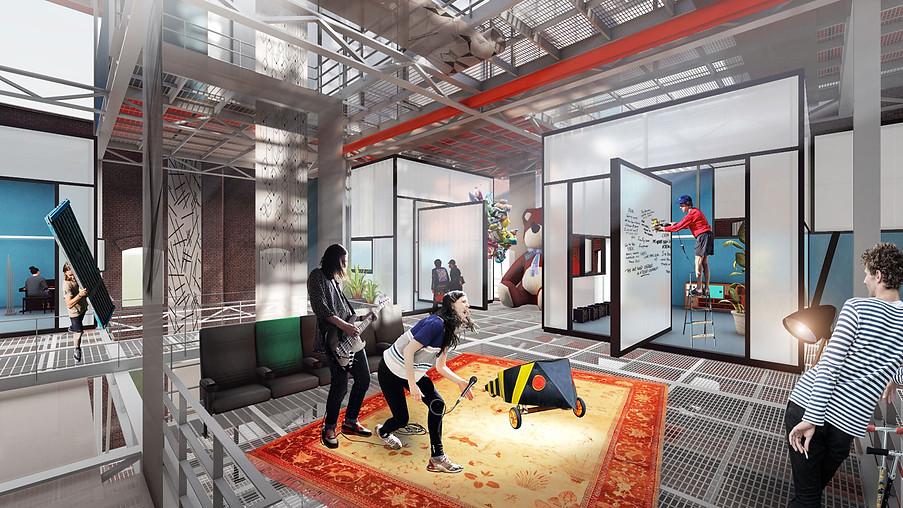 3D Innenraum Visualisierung einer Ausstellung