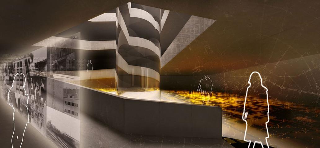 3D Architektur Visualisierung eines Ausstellungsraumes