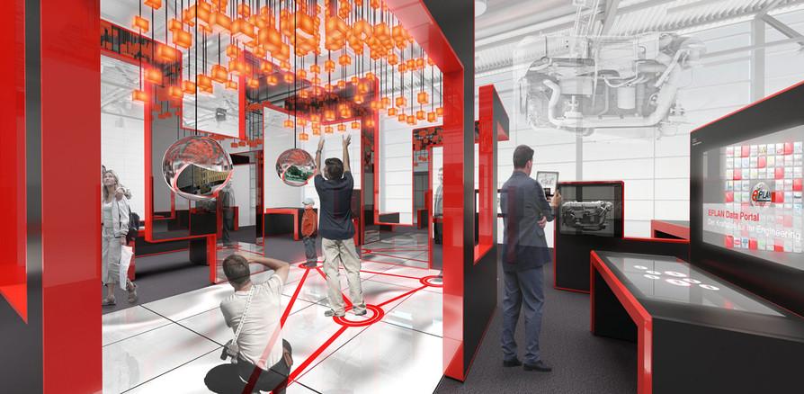 3D Innenraum Visualisierung eines Messestandes