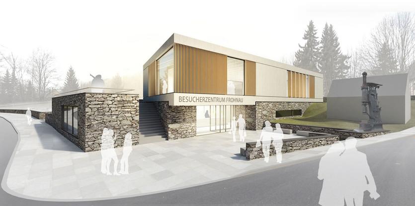 3D Architektur Visualisierung eines Besucherzentrums