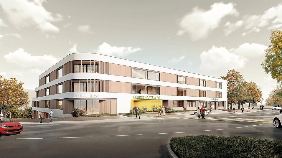 3D Architektur Visualisierung einer Pflegeeinrichtung