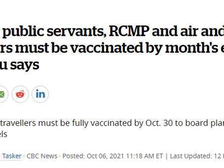 最新!加拿大公佈聯邦強制疫苗政策:本月起坐飛機需有疫苗證明