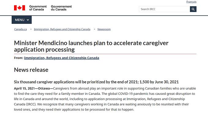 加拿大移民部承諾:保姆移民今年必須完成6000份審理!