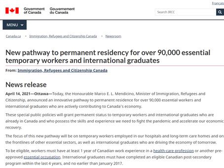 加拿大移民部新推出三大新專案,留學生畢業後可直接申請移民!9萬留學生及工作簽證者將受益!