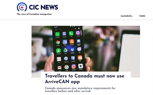 11月21日起入境加拿大有新規