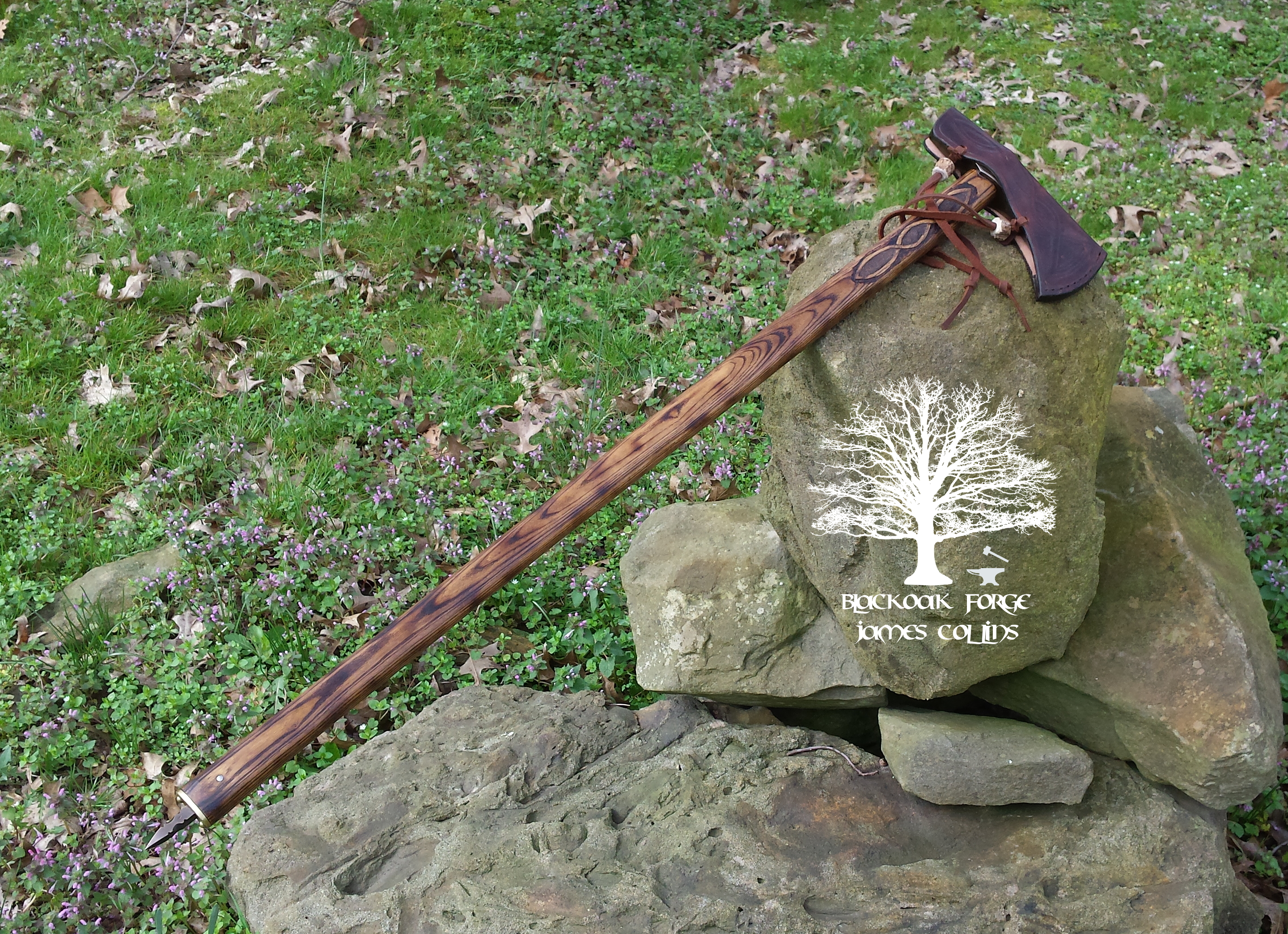 Rus Axe by James Collins Blackoak Forge