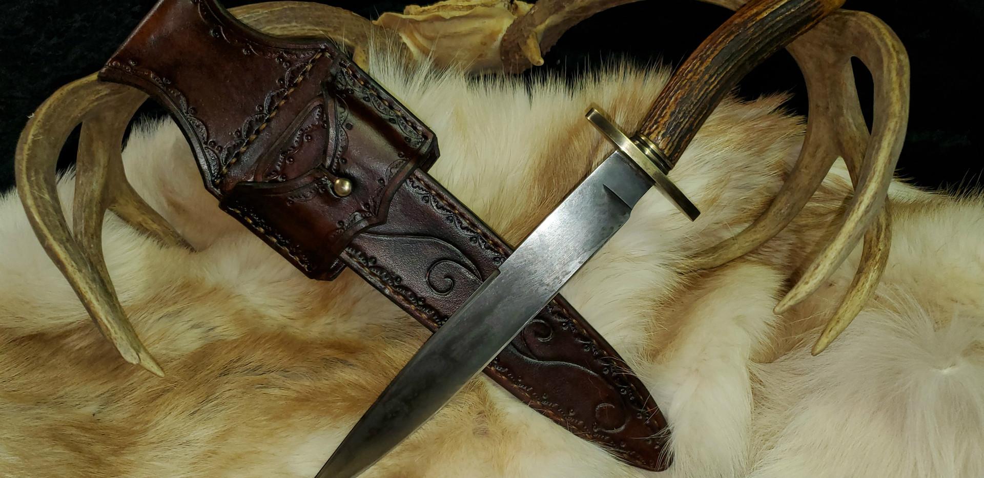 Long Bowie Knife by James Collins Blackoak Forge