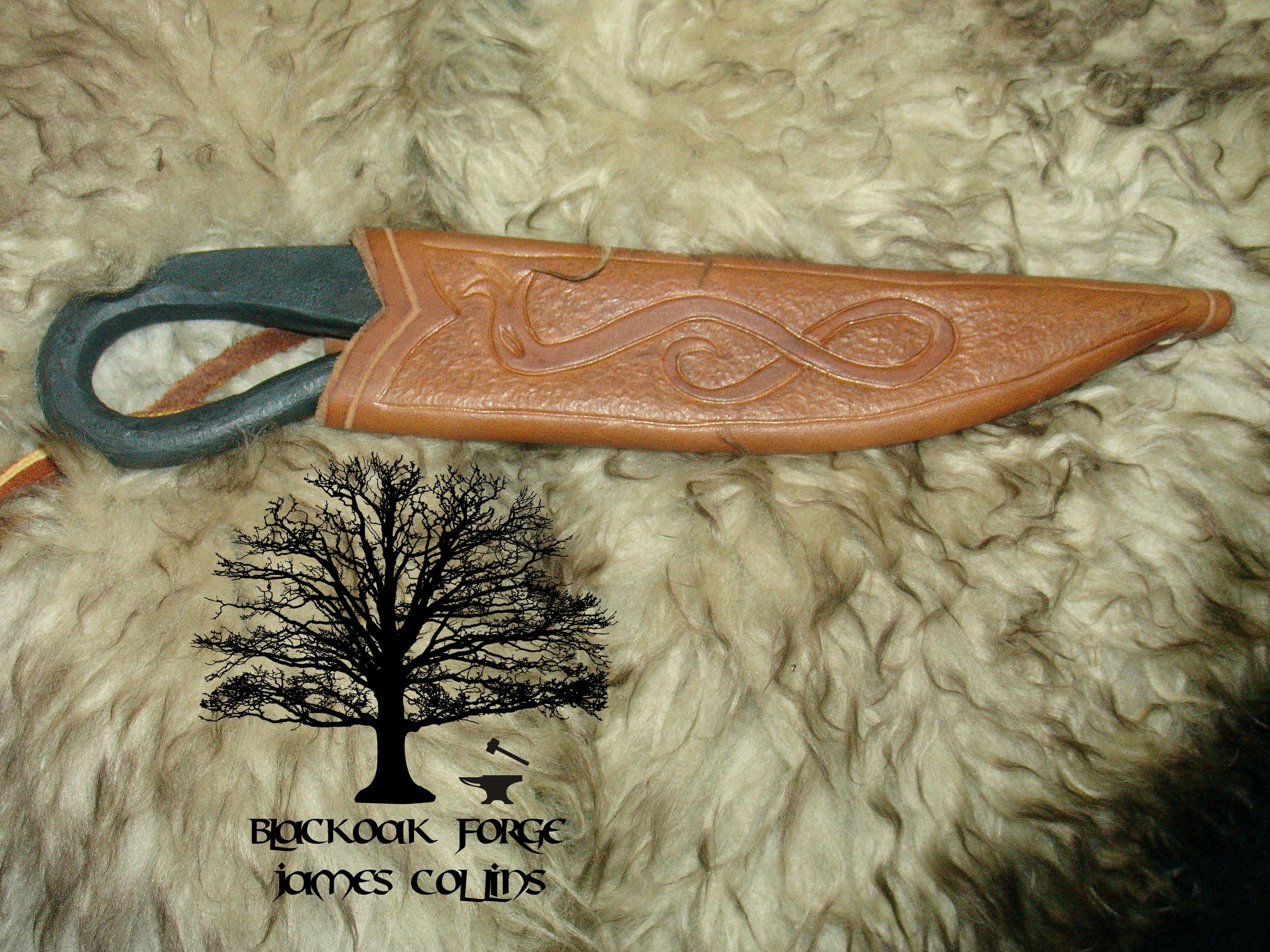 Flint Striker Knife by James Collins Blackoak Forge (3)