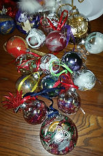 arts classes - photo of christmas bulbs