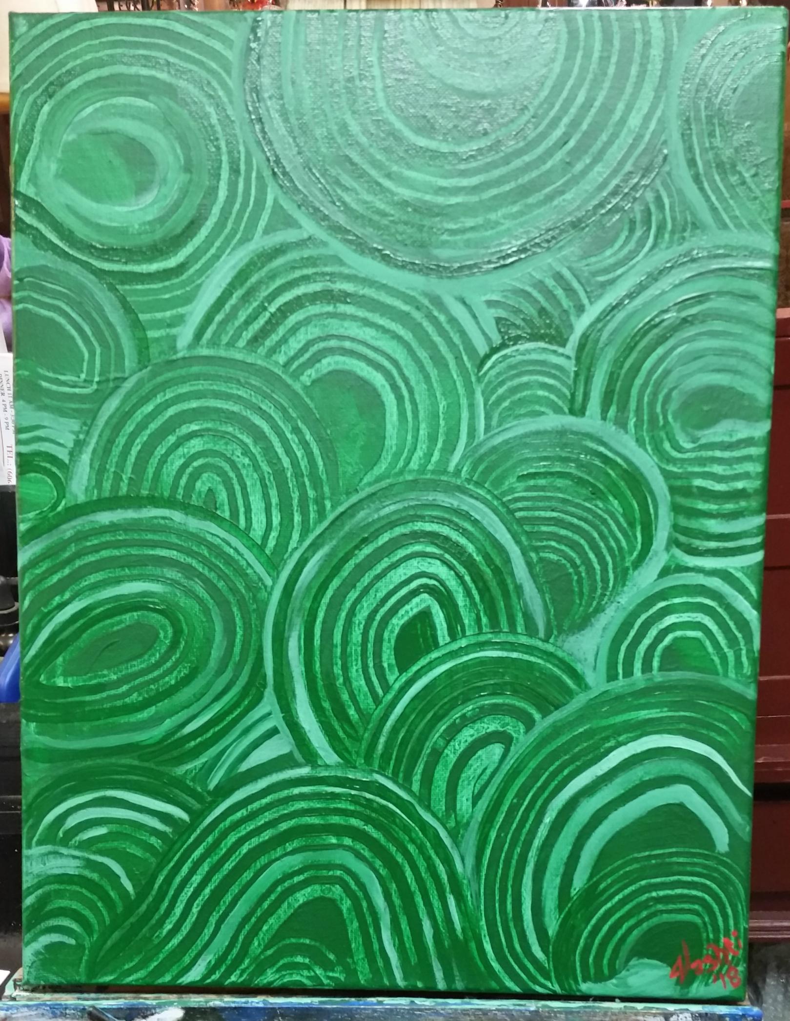 Heart Chakra - Malachite Painting