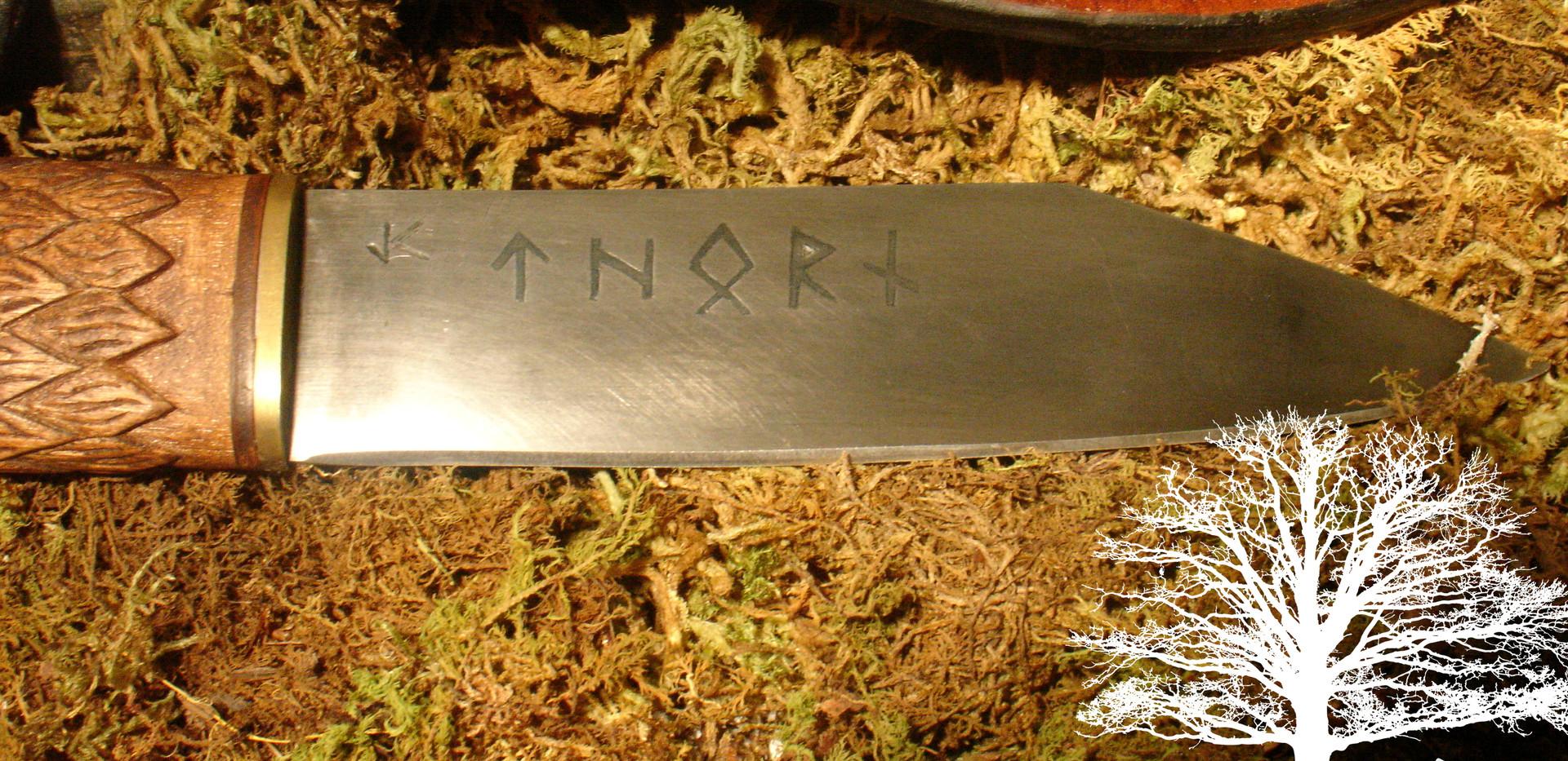 Wolf Seax by James Collins Blackoak Forge