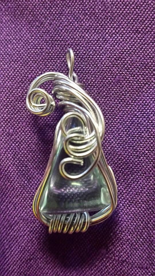 aqua obsidian in silver