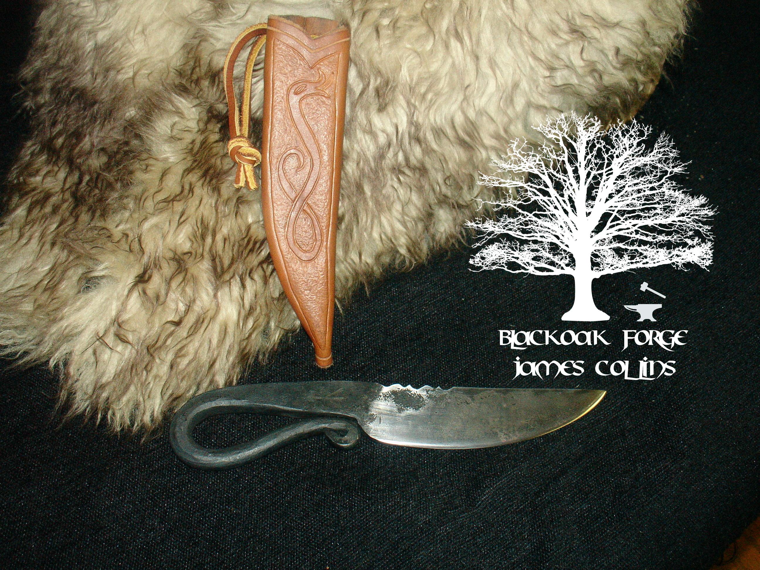 Flint Striker Knife by James Collins Blackoak Forge (4)