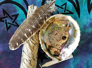 House Clearings and Blessings - photo of sage and shell