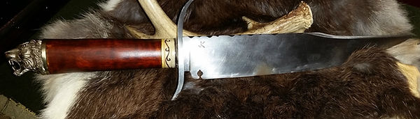 Bowie Knife with Cathead Pommel