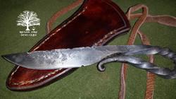 Neck Knife by James Collins Blackoak Forge