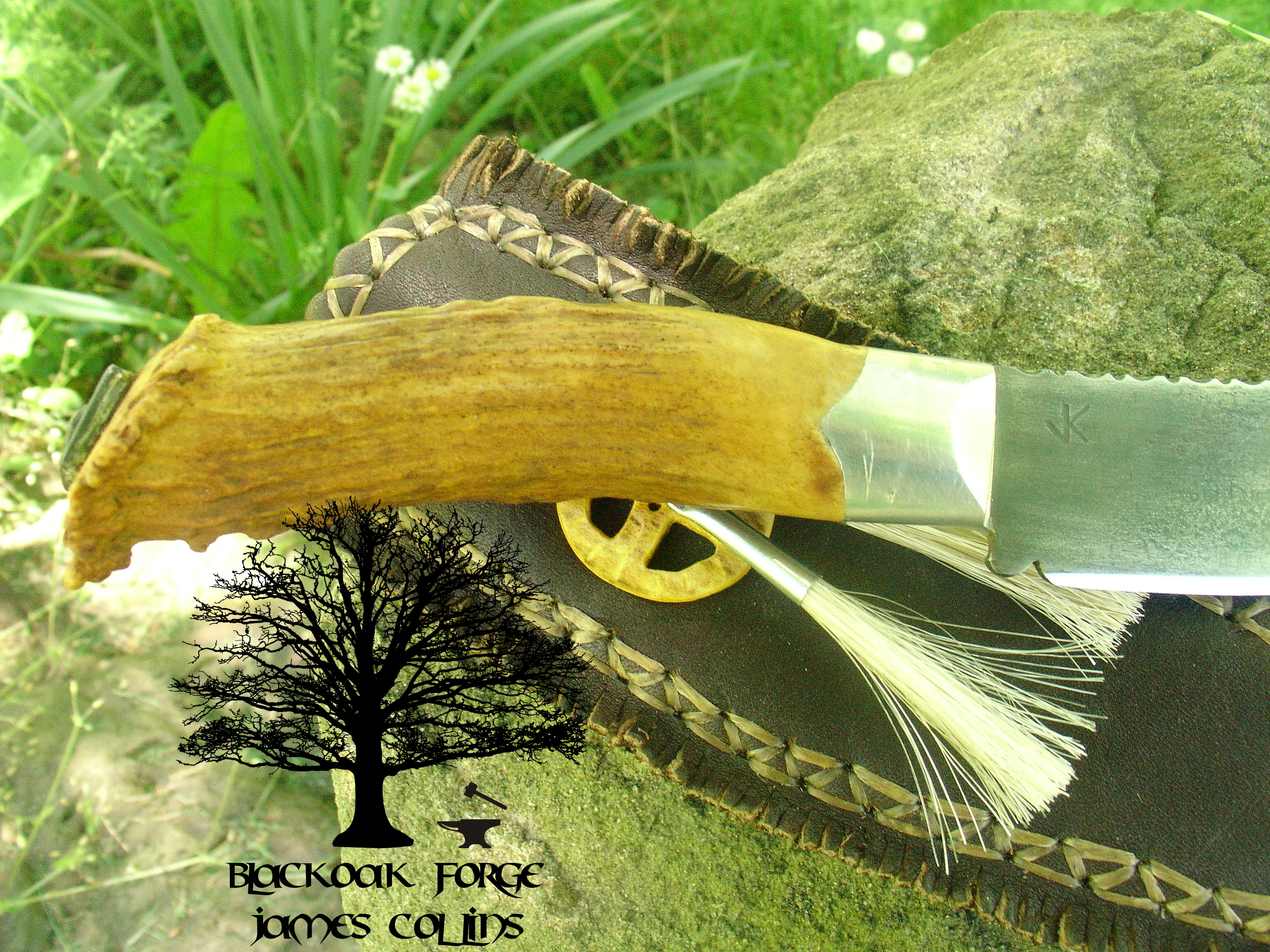 Medicine Wheel Frontier Knife by James Collins Blackoak Forge