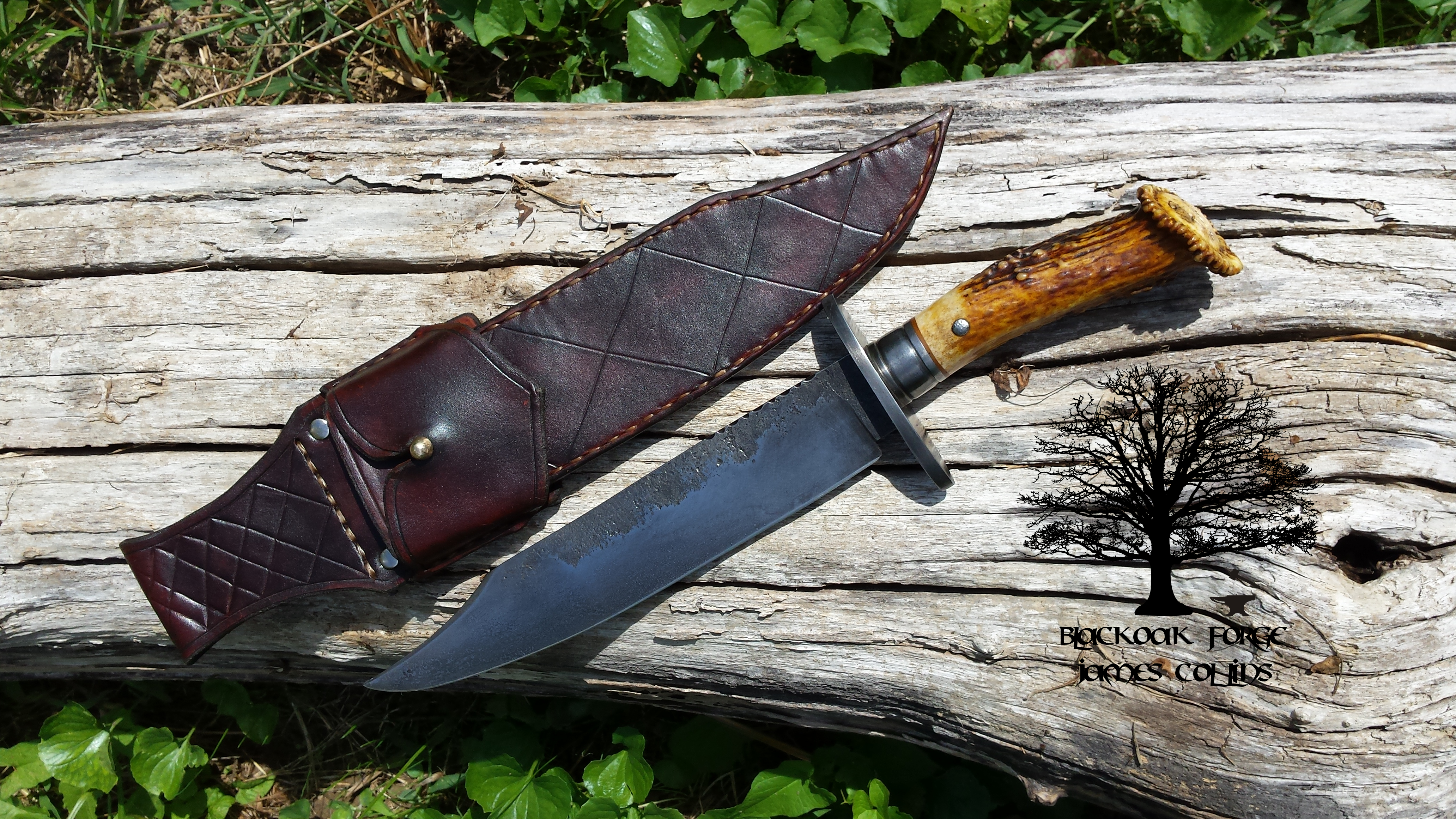 Bowie Knife by James Collins Blackoak Forge